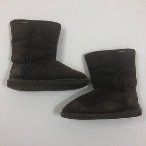 "BearPaw ""Emma"" Short Dark Brown Boots Size 9"